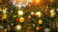 Sapin de Noël et éclairage.
