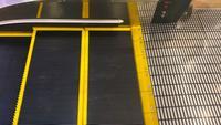 Rolltreppe, Blick von der Seite.