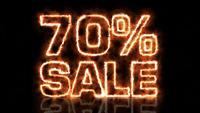 Hot sjuttio procent försäljning