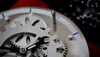 Abstract Retro Industrial Clock Gears