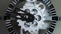Retro Industrial Clock Gears on the Wall