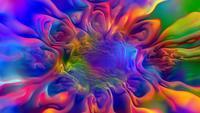 Psychedelische abstracte kleuren achtergrond lus