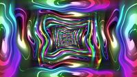Boucle de tunnel colorée déformée