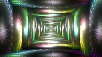 Boucle de tunnel de lumières rougeoyantes
