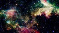 Vol spatial dans un champ d'étoiles
