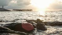 Hyperlapse sunrise marina, Tailandia.