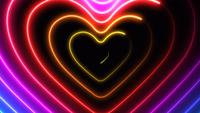 Colorful Hearts Animation.