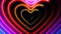 Kleurrijke harten animatie.
