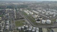 Oil tanks refinery plant
