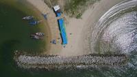 Vue aérienne du brise-mer