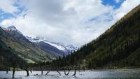 Montaña en el Parque Nacional Siguniang, Sichuan.