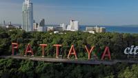 La ciudad de Pattaya muestra el famoso monumento