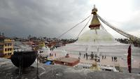 Pagoda Boudhanath en Katmandú, Nepal.