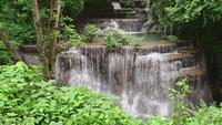 Beautiful waterfall in tropical rain forest, Thailand.