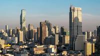 Mening van Bangkok in het Gouden Uur, Thailand.