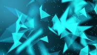 Fond géométrique du plexus bleu
