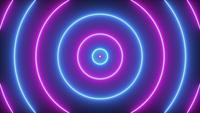 Animation des cercles roses et bleus