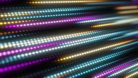 Animering av orange, gula, rosa och blå ljuslinjer