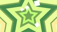 Estrelas verdes e amarelas com animação de efeito ans infinito