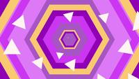 Flying Through Yellow, Purple and Pink Hexagons