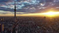 Tokyo, Japan, tijdens zonsopgang