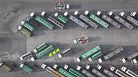 Camion-remorque pétrolière Concept d'intelligence artificielle intelligente.