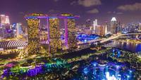 singapore horisont på natten