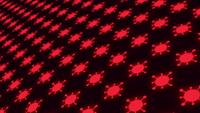 Rot leuchtender Coronavirus-Hintergrund