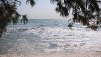 Schöne Morgenseelandschaft in Cha-am Strand, Petchaburi, Thailand