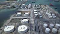 Flygfoto över oljeraffinaderifabriken