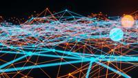Light Blue and Orange Plexus Animation