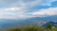 Pannen over de bergtoppen