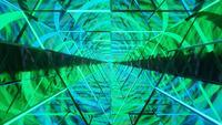 Wireframe verde e azul linhas de néon DJ Loop fundo