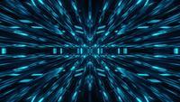 Blue Sci Fi Glass Tunnel Visual Motion Design