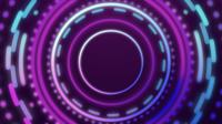 Abstrait de cercle lumineux avec élément numérique.