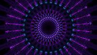 Círculos de néon piscando redondo VJ Loop