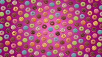 Rotating Donuts Background