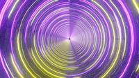 Lazo de diseño de movimiento de luces de neón rosa y amarillo