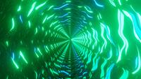 Snabbt roterande abstrakta gröna och blå neonljus