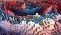 Bunter 3D-Balken-Hintergrund