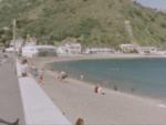 Super 8 - Menschen, die den Strand im Sommer genießen