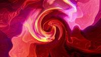 Turbulenter Verdrängungseffekt des bunten Acrylaquarells der abstrakten Schleife