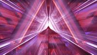 Rote heilige leuchtende Tür zum Paradies oder zum Himmel VFX CGI