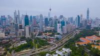Het centrum van Kuala Lumpur in Maleisië
