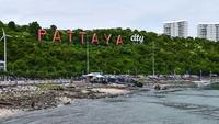 Bali Hai Pier und Pattaya City Hintergrund