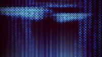 Pixels de tela de TV flutuando com movimento