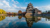 Castillo Matsumoto en Nagano, Japón