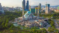 La mosquée du territoire fédéral, ou Masjid Wilayah Persekutuan, Kuala Lumpur, Malaisie