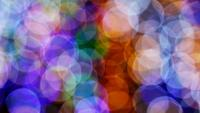 Große Kreise von verschwommenen Lichtern und Bokeh
