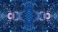 Blaues mehrdimensionales Raumfahrt-Kaleidoskop